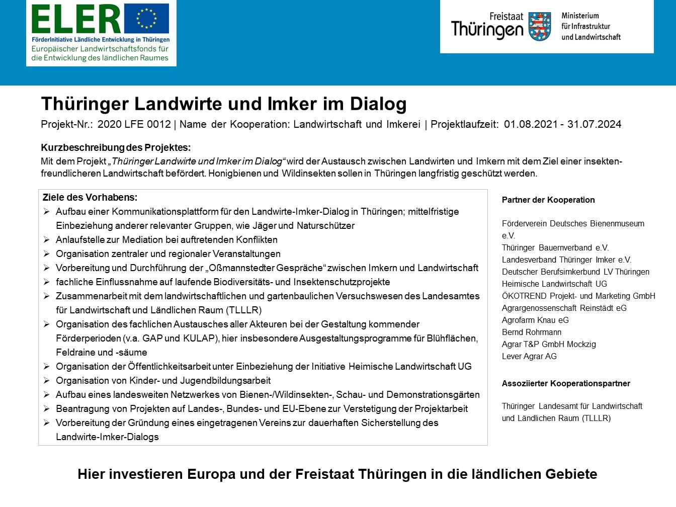 LFE Thüringer Landwirte und Imker im Dialog